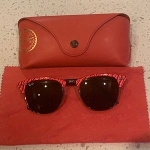 Ray-Ban Clubmaster Sunglasses - Red Pearl